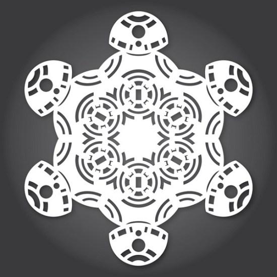 Star Wars Snowflakes - BB-8 - Geek Decor