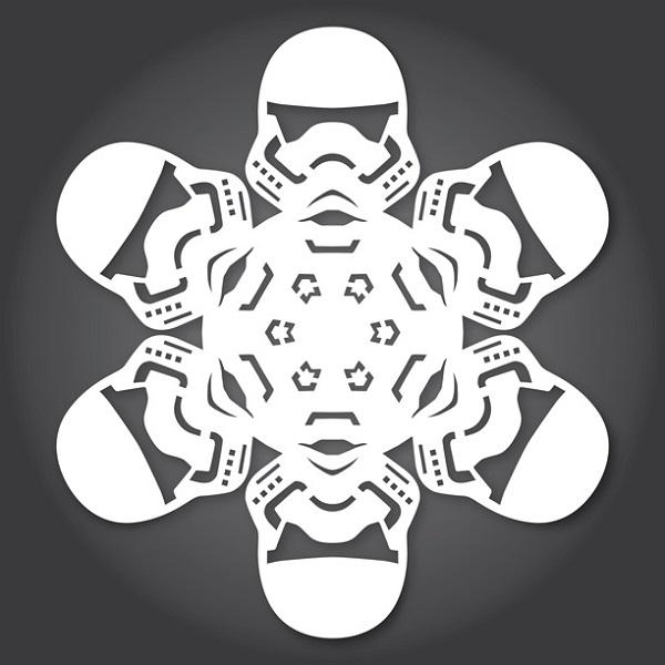 Star Wars Snowflakes Stormtrooper - Geek Decor