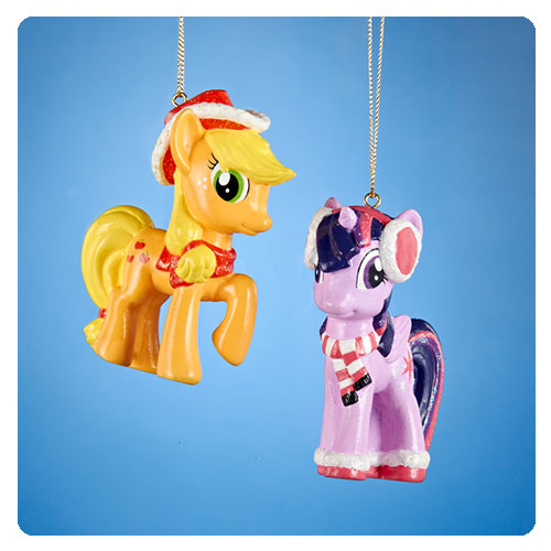 My Little Pony Applejack and Sparkle Ornaments - Geek Decor