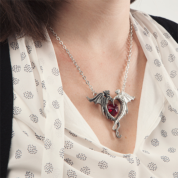 Coeur Sauvage Necklace Pendant - Being Worn - Geek Decor
