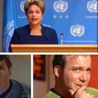 A reação da tripulação da USS Enterprise de Start Trek com o pronunciamento de Dilma