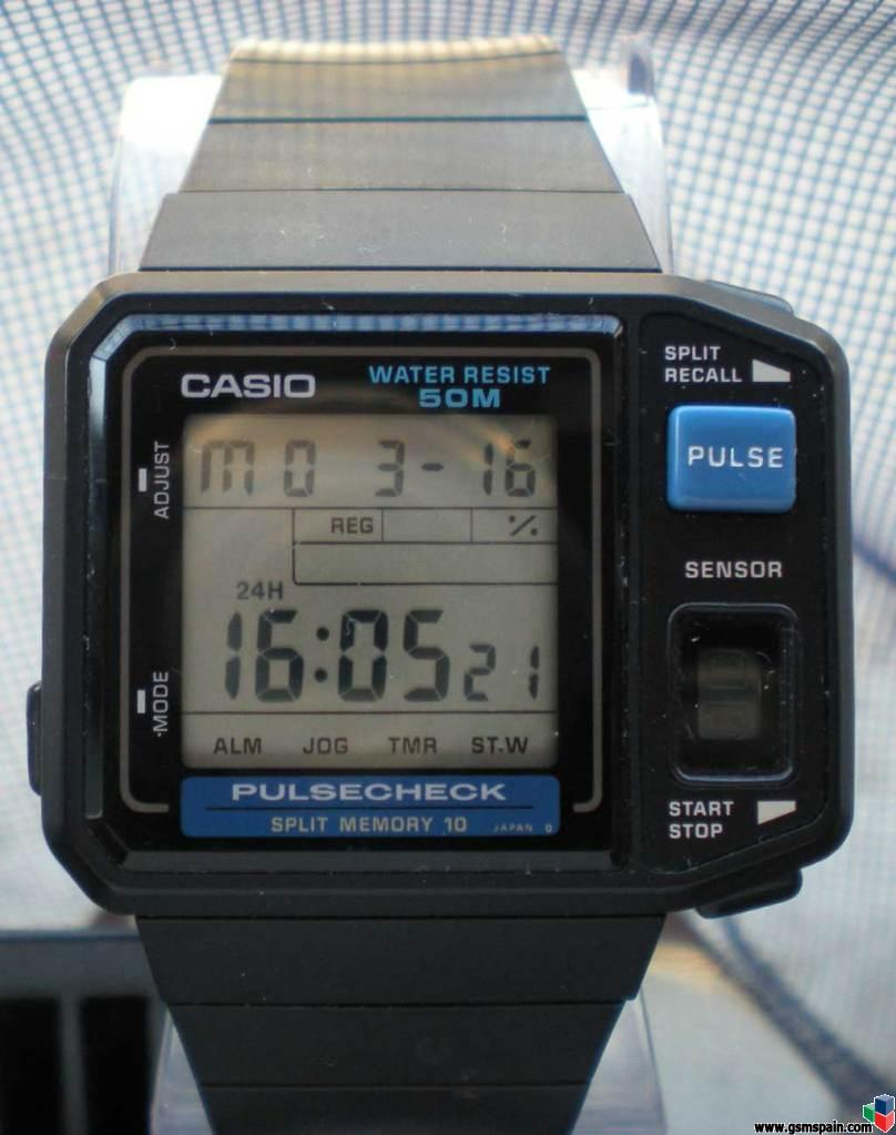 Casio would eventually add a heartbeat sensor on their 1987 JP-100W model watch beating Apple by 29 years.