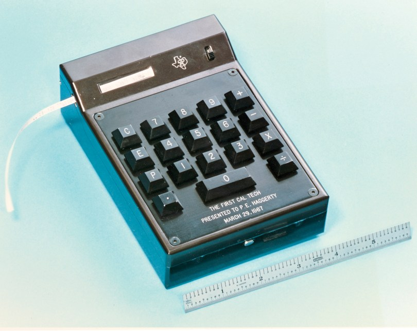 The Texas Instruments Cal Tech Hand Held Calculator