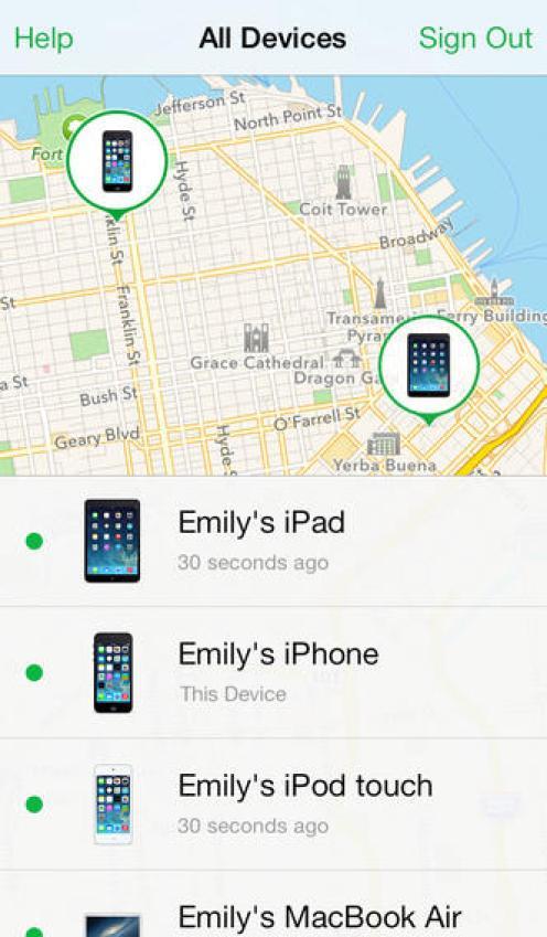 Localiser mon iPhone (1) - iOS 7