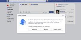 Facebook - Verification du partage publication - Privacy Checkup