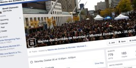 Evenement Facebook - Marche des zombies 2014