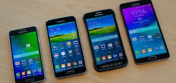 Gamme Samsung Galaxy 2014 : Alpha, S5, S5 Active et Note 4