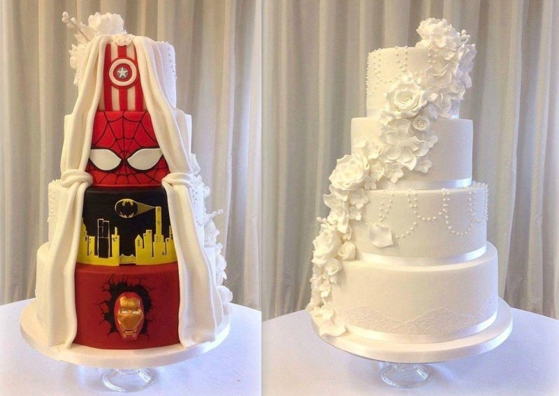 ... pour les fans de superhéros… et de mariage plus traditionnel