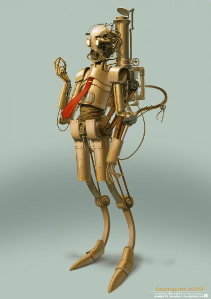 C3PO - Steam engine powered