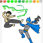 Drawsome Batman-BruceLee