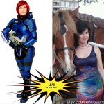 Leah as Fem Shep from Mass Effect