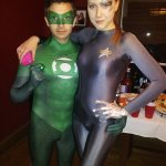 Nathan B and Friend - Green Lantern and 7 of 9