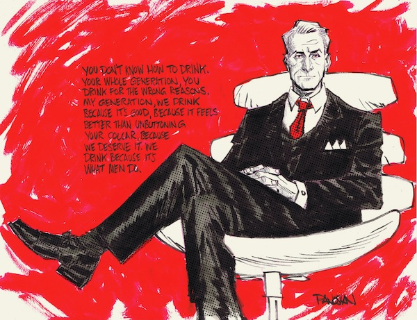 Mad Men Comic Style Roger Sterling