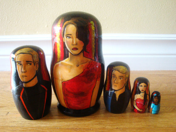 Rachel Anderson Nesting Dolls  Hunger Games Tributes