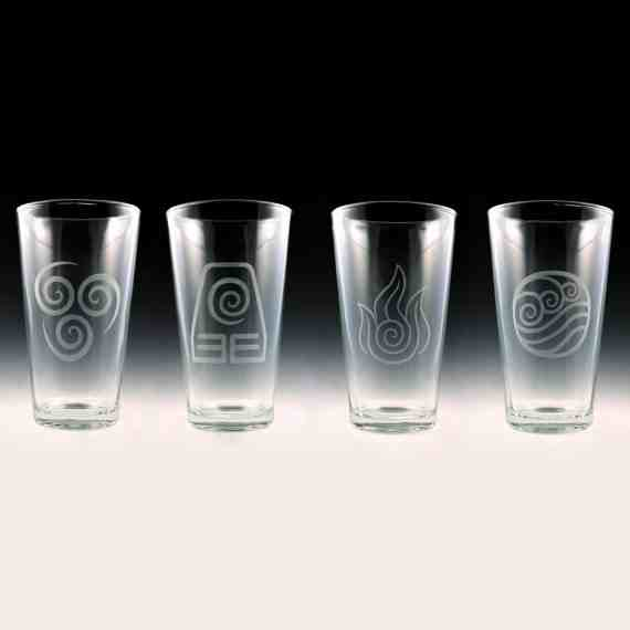 Avatar Last Airbender Pint Glasses