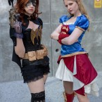 steampunk batgirl and supergirl