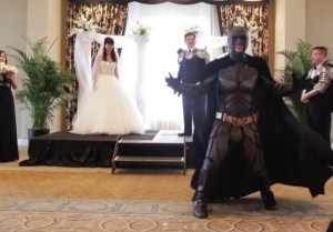 A Knight, Ninjas, Iron Man, Batman and Others Crash Couple's Wedding [Video]