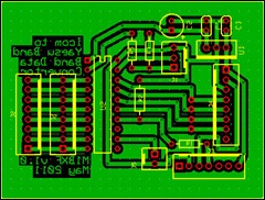 Icom to Yaesu Band Data_PCB_v1.0