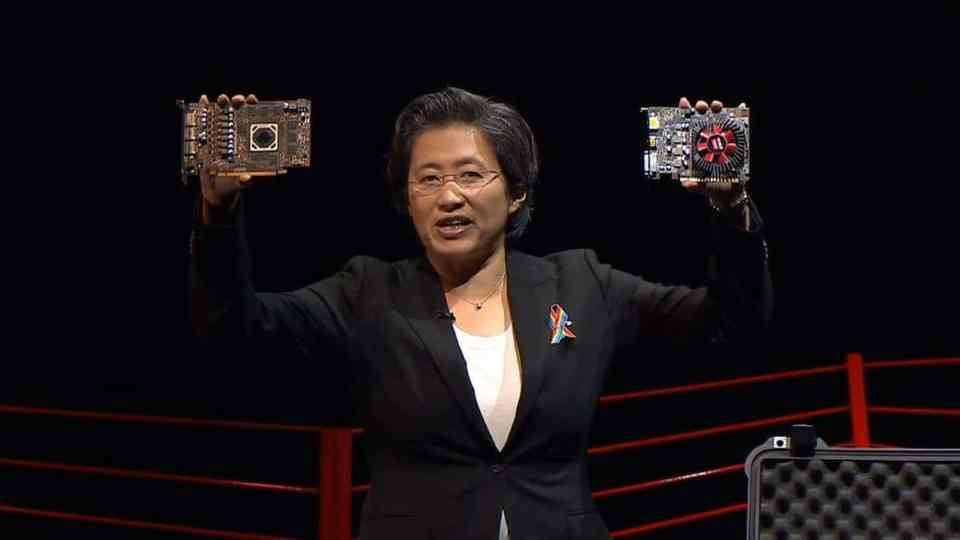 Lisa Su showcases the RX 460 and RX 470 at E3 2016.