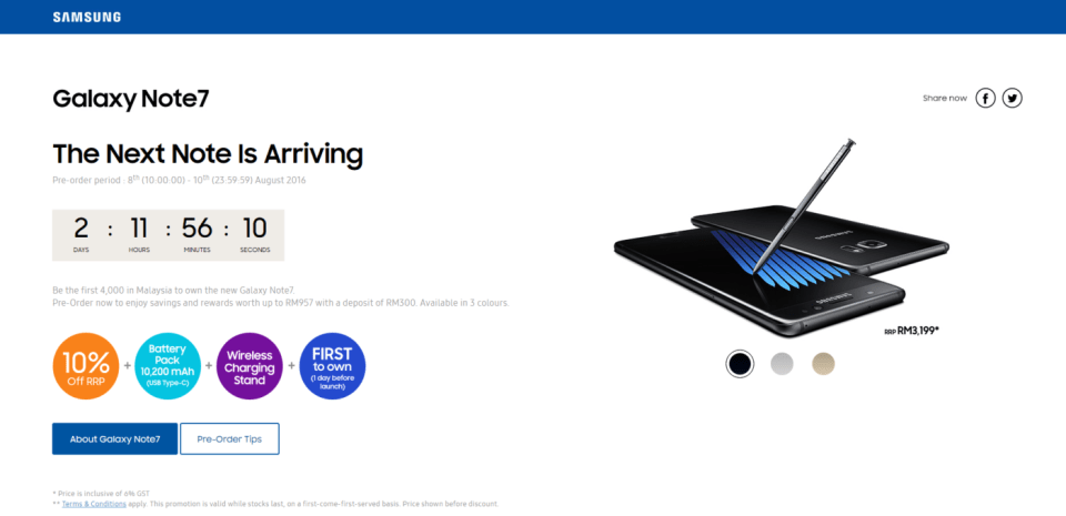 Image: Samsung Malaysia's Official Site