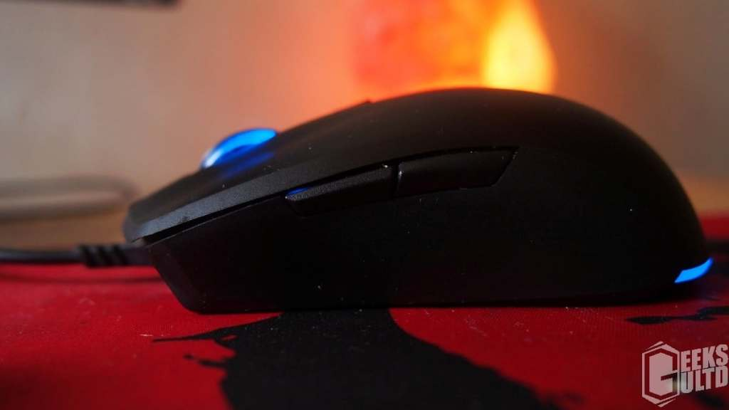 Left Side View Of The Cooler Master MasterKeys Lite L Combo Mouse