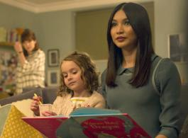 Pixie Davies as Sophie Hawkins and Gemma Chan as Anita  - Humans _ Season 1, Episode 1 - Photo Credit: Des Willie/Kudos/AMC/C4