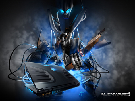 Alienware Desktop HD Wallpaper Blue