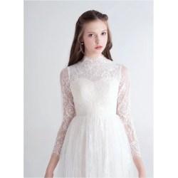 Small Crop Of High Neck Wedding Dress