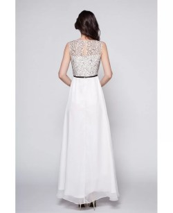 Small Of Long White Dress