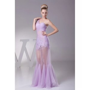 Stupendous One Shoulder See Through Sexy Tulle Lace Prom Dress Light Purple See Through Dresses Online See Through Dresses Australia Light Purplecolor One Shoulder See Through Sexy Tulle Lace Prom Dre