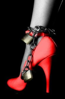 High Heels padlock