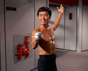 Star Trek Sulu, gratuitously topless?
