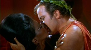 Uhura Captain Kirk Star Trek Interracial Kiss