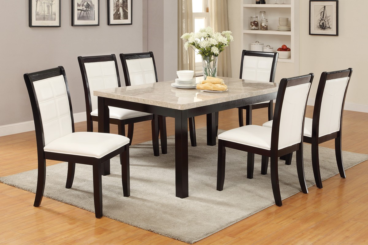 real marble top dining table by poundex f marble top kitchen table poundex F real marble top table set