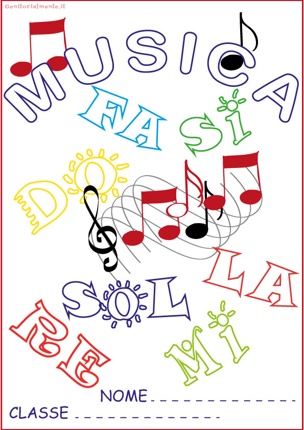 Copertine per quaderni da colorare: musica | Genitorialmente