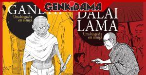 Gandhi e Dalai Lama - Biografias em Mangá - Editora Tambor e Case Editorial - Vols. Únicos