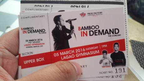 bamboo gensan concert ticket