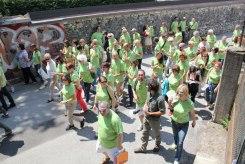 Il gruppo guidato dal botanico Fabrizio Zara per le vie di Trento