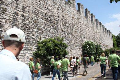 Le mura del Castello del Buonconsiglio
