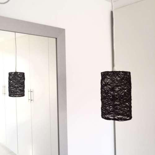 cylinder lámpara de techo marrón