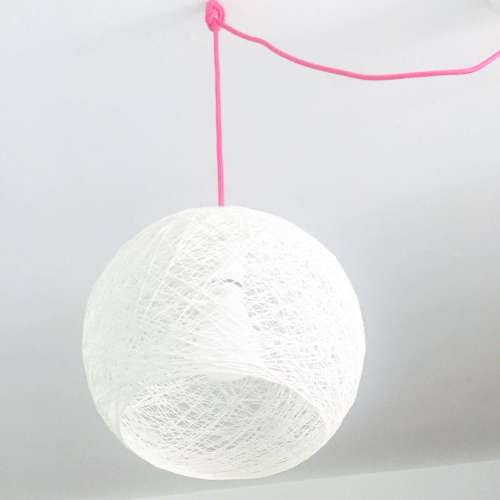 Lámpara de techo semiesfera hecha a mano artesanal