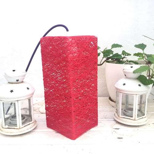 Lámpara de sobremesa de hilo decorativa hecha a mano de diseño milnimalista
