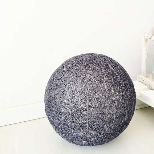 Sphere grey floor lamp