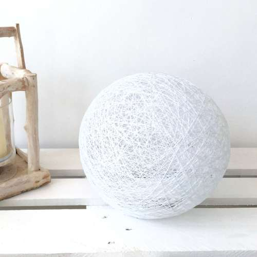 Sphere white floor lamp