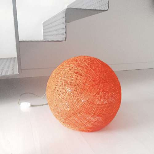 Sphere orange floor lamp