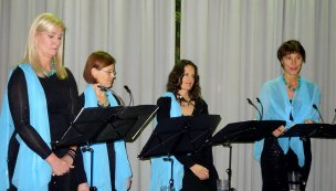 Damenquartett on stage