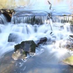 Roath Park waterfall photograph Cardiff