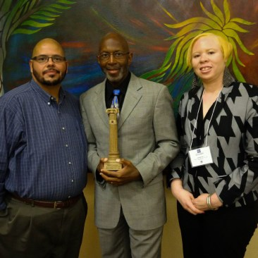 L to R: Ronald Rivera, Robin King, and Quanda Pace, Goodwill Easterseals Program Staff