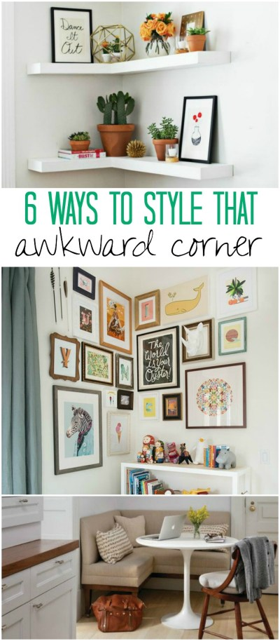 6 Clever Ideas: How to Style Awkward Corners In Your Home - Creative Juice