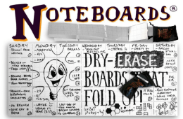 Noteboard Pocket-Size Dry Erase-Board – Foldable And Portable